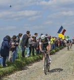 Niki Terpstra the Winner of Paris-Roubaix 2014. Carrefour de l'Arbre,France-April 13,2014: The Dutch cyclist Niki Terpstra from Omega Pharma-Quick Step Team Stock Photo