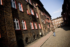 Nikiszowiec, historical, coal mining district of K Royalty Free Stock Images