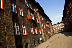 Nikiszowiec, district van Katowice, Polen. royalty-vrije stock foto's