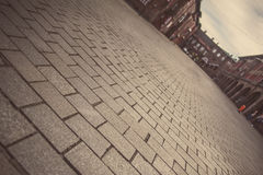 Nikiszowiec - historisch deel van Katowice en Silesië Stock Foto