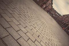 Nikiszowiec - parte histórica de Katowice y de Silesia Foto de archivo
