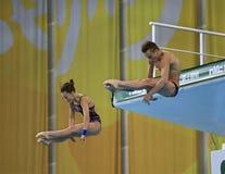 Nikita en Timoshinina Yulia van Rusland Stock Foto's