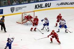 Nikita Gusev ( 97) lanzamiento Foto de archivo libre de regalías