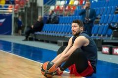 Nikita Kurbanov. MOSCOW, RUSSIA - JANUARY 27, 2017: Nikita Kurbanov 41 on the on basketball game CSKA vs Anadolu Efes on Regular championship of Euroleague on Stock Images