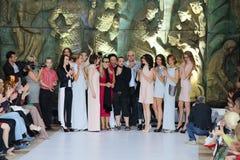 Nikita Mikhalkov and models Royalty Free Stock Images