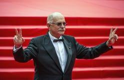 Nikita Mikhalkov sul festival cinematografico dell'internazionale di Mosca del tappeto rosso 37 fotografia stock