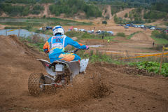 Nikita Misiulia 6. MOSCOW, RUSSIA - SEPTEMBER 10, 2016: Nikita Misiulia 6 Terehovo 13, Moscow, class ATV, in the 4 stage of the XSR-MOTO.RU Cross Country in Royalty Free Stock Images