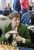 Nikita Vitiugov. Professional chess player Rusia, Playing chess tournament Gibraltar Tradewise Festival in January and February 2015. It is an editorial image Royalty Free Stock Photos