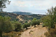 Nikiti, Sithonia, χερσόνησος της Χαλκιδικής, Ελλάδα, Ευρώπη, μεγάλη Στοκ Φωτογραφίες