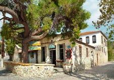 Nikiti, Sithonia, Chalkidiki, Grecja, Europa, Retro grecki tave obrazy stock