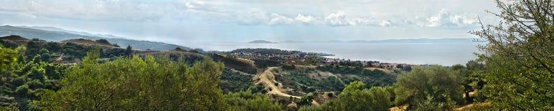 NIKITI WIELKA panorama, SITHONIA, CHALKIDIKI półwysep, GRECJA, EUROPA fotografia royalty free