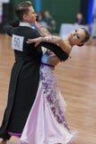 Nikitin Aleksandr und Standard-Programm Novoselova Irina Perform Youth-2 lizenzfreie stockfotos
