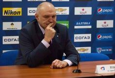 Nikitin Igor, co-treiner of Severstal team Royalty Free Stock Photos