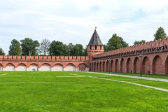 Nikitskayatoren - één van de torens van Tula Kremlin Tula, Rusland royalty-vrije stock fotografie