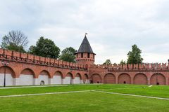 Nikitskayatoren - één van de torens van Tula Kremlin Tula, Rusland stock afbeelding