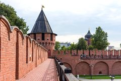 Nikitskayatoren - één van de torens van Tula Kremlin Tula, Rusland stock fotografie