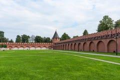 Nikitskayatoren - één van de torens van Tula Kremlin Tula, Rusland royalty-vrije stock afbeelding