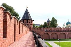 Nikitskayatoren - één van de torens van Tula Kremlin Tula, Rusland stock foto's