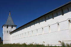 Nikitski Monastery white walls Stock Images