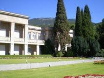 Nikitsky botanical garden. View of the Crimean mountains from the Nikitsky botanical garden Stock Photo