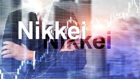 Nikkei 225 Voorraad Gemiddelde Index Financieel Bedrijfs Economisch concept royalty-vrije stock fotografie