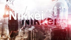 Nikkei 225 Voorraad Gemiddelde Index Financieel Bedrijfs Economisch concept stock foto
