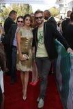 Nikki芦苇和保罗・ 2012 MTV电影证书到达的麦克唐纳, Gibson圆形剧场,通用城市,加州06-03-12 库存图片