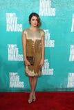 Nikki decken das Kommen zu den MTV-Film-Preisen 2012 mit Schilf Lizenzfreies Stockbild