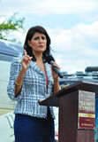 Nikki Haley Fires Up the Crowd Stock Photo