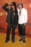 Nikki Sixx Tommy Lee arkivbilder