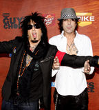Nikki Sixx and Tommy Lee Stock Image