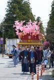 NIKKO, ЯПОНИЯ - 16-ОЕ АПРЕЛЯ: Люди Nikko празднуют festiva Yayoi Стоковое Фото