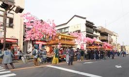 NIKKO, ЯПОНИЯ - 16-ОЕ АПРЕЛЯ: Люди Nikko празднуют festiva Yayoi Стоковая Фотография RF