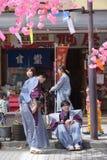 NIKKO, ЯПОНИЯ - 16-ОЕ АПРЕЛЯ: Люди Nikko празднуют festiva Yayoi Стоковая Фотография