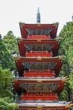 Nikko di costruzione giapponese Immagine Stock