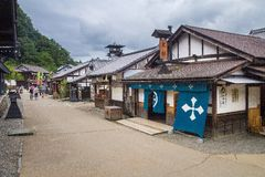 Nikko Edomura (Edo Wonderland). Is a history theme park recreating Japanese town life during the Edo Period (1603-1868 stock photography