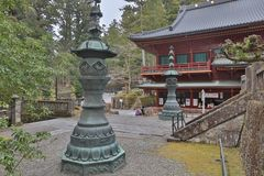Nikko Futarasan Shrine in Nikko Stock Images