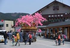 NIKKO, GIAPPONE - 16 APRILE: La gente di Nikko celebra il festiva di Yayoi Fotografia Stock Libera da Diritti