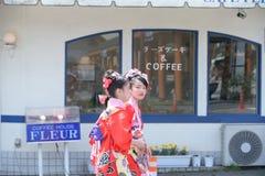 NIKKO, GIAPPONE - 16 APRILE: La gente di Nikko celebra il festiva di Yayoi Fotografie Stock Libere da Diritti