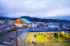 NIKKO, GIAPPONE - 21 FEBBRAIO 2016: stazione ferroviaria sul Tobu N Immagine Stock