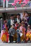 NIKKO, JAPÃO - 16 DE ABRIL: Os povos de Nikko comemoram o festiva de Yayoi Imagem de Stock