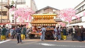 NIKKO, JAPÓN - 16 DE ABRIL: La población de Nikko celebra el festiva de Yayoi Fotografía de archivo libre de regalías
