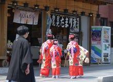 NIKKO, JAPÓN - 16 DE ABRIL: La población de Nikko celebra el festiva de Yayoi Fotografía de archivo