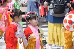 NIKKO, JAPÓN - 16 DE ABRIL: La población de Nikko celebra el festiva de Yayoi Fotos de archivo