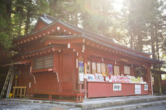 NIKKO, JAPÓN - 22 DE FEBRERO DE 2016: Estilo japonés de la tienda de souvenirs Fotos de archivo libres de regalías