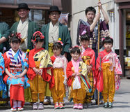 NIKKO, JAPAN - APRIL 16: People of Nikko celebrate Yayoi festiva Royalty Free Stock Images