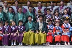 NIKKO, JAPAN - APRIL 16: People of Nikko celebrate Yayoi festival on April 16, 2016 in Nikko where World-Heritage Shrines and royalty free stock images
