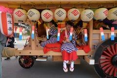 NIKKO, JAPAN - APRIL 16: People of Nikko celebrate Yayoi festiva Royalty Free Stock Photos