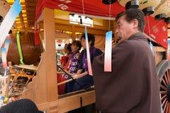 NIKKO, JAPAN - APRIL 16: People of Nikko celebrate Yayoi festiva Stock Photo