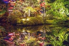 Nikko, Japan Autumn Garden royalty-vrije stock foto